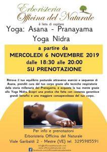 Yoga: Asana Pranayama; Yoga Nidra a Mestre Officina del Naturale @ Erboristeria Officina del Naturale Mestre | Mestre | Italy