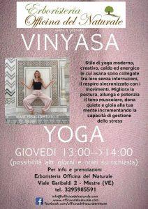Corso Vinyasa Yoga a Mestre Erboristeria Officina del Naturale @ Erboristeria Officina del Naturale Mestre | Mestre | Italy