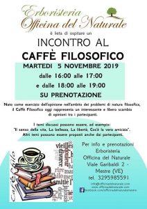 Incontro al Caffè Filosofico a Mestre Officina del Naturale @ Erboristeria Officina del Naturale Mestre | Mestre | Italy
