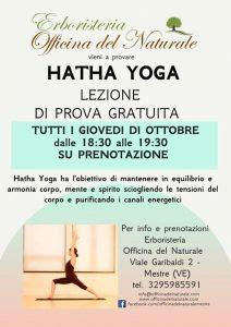 Lezioni prova gratuita Hatha Yoga a Mestre Officina del Naturale @ Erboristeria Officina del Naturale Mestre   Mestre   Italy