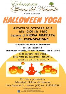 Halloween Yoga Mestre Centro Erboristeria Officina del Naturale @ Erboristeria Officina del Naturale Mestre | Mestre | Italy