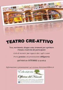 Teatro Cre-attivo per ragazzi a Mestre @ Erboristeria Officina del Naturale Mestre   Mestre   Italy
