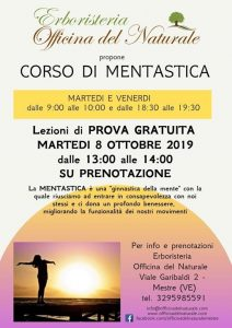 Corso di Mentastica a Mestre Erboristeria Officina del Naturale @ Erboristeria Officina del Naturale Mestre | Mestre | Italy
