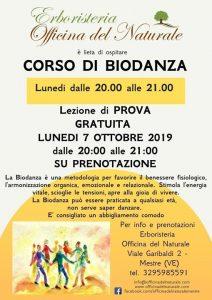 Lezione gratuita di Biodanza a Mestre Officina del Naturale @ Erboristeria Officina del Naturale Mestre | Mestre | Italy
