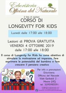 Corso di Longevity for Kids Mestre Officina del Naturale @ Erboristeria Officina del Naturale Mestre | Mestre | Italy