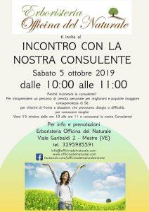 Incontro con la Nostra Consulente @ Erboristeria Officina del Naturale Mestre | Mestre | Italy