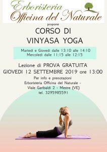 Lezione gratuita Vinyasa Yoga a Mestre Officina del Naturale @ Erboristeria Officina del Naturale Mestre   Mestre   Italy