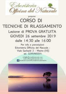 Corso di Tecniche di Rilassamento a Mestre Officina del Naturale @ Erboristeria Officina del Naturale Mestre   Mestre   Italy