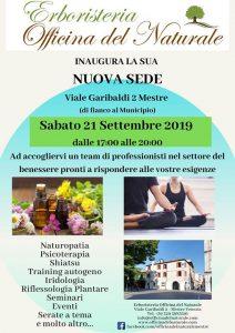 Inaugurazione nuova sede Erboristeria Officina delNaturaleMestre @ Erboristeria Officina del Naturale Mestre | Mestre | Italy