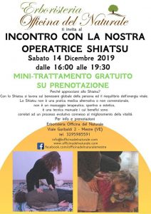 Incontro con la nostra Operatrice Shiatsu Officina del Naturale @ Erboristeria Officina del Naturale Mestre | Mestre | Italy