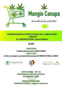 """Conferenza """"Mangio Canapa"""" ed aperitivo HEMPatico a Mestre @ Erboristeria Officina del Naturale Mestre   Mestre   Italy"""
