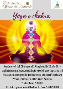 Yoga e Chakra - Meditazione e rilassamento - Yoga a Mestre @ Erboristeria Officina del Naturale Mestre | Mestre | Italy